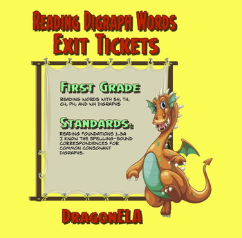 Reading Words with Digraphs Exit Tickets