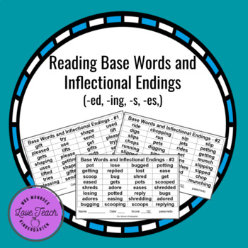 Reading Words with Inflectional Endings