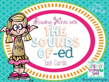 Reading Words with the Sounds of -ED Task Cards