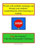Reading Work Station/ Literacy Center: Homograph Challenge