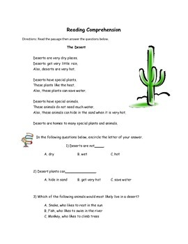 Reading Workbook for 2nd Grade