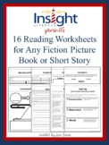Reading Worksheets (16) for Any Fiction Picture Book or Short Story