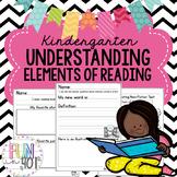 Understanding Elements of Reading for Kindergarten