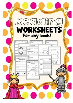 Reading Worksheets for Any Book