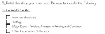 Reading Worksheets for Homework - Editable