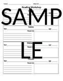 Reading Workshop Accountability Sheet