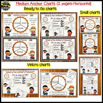 "Reading Workshop Anchor Chart - ""Author's Purpose"" (2 anchor charts and song)"