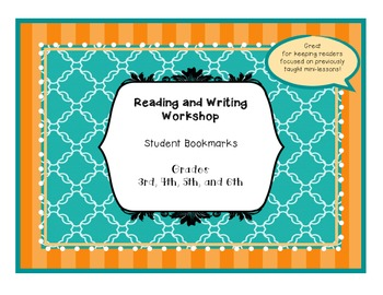 Reading Workshop Minilesson Bookmarks  BUNDLES 1 & 2  BETTER DEAL