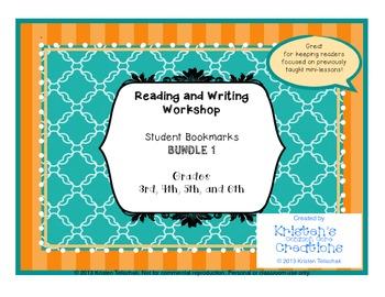 Reading Workshop Anchor Chart Bookmarks BUNDLE 1