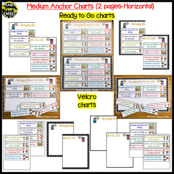 "Reading Workshop Anchor Chart - ""Bringing Books to Life"" for a Character Study"