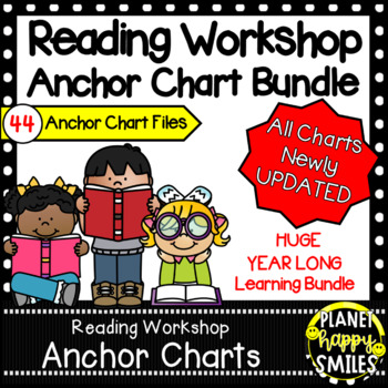 Reading Workshop Anchor Chart Bundle ~ 36 Anchor Charts