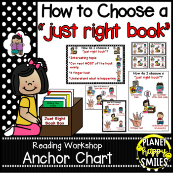 "Reading Workshop Anchor Chart - ""How do I choose a Just Ri"