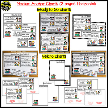 """Reading Workshop Anchor Chart - """"How to be a Good Listener"""""""