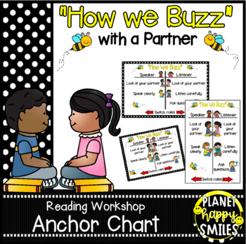 """Reading Workshop Anchor Chart - """"How we Buzz with our Reading/Buzz Partner"""""""