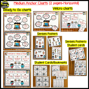 """Reading Workshop Anchor Chart - """"I Can Use my 5 Senses as I Read"""""""