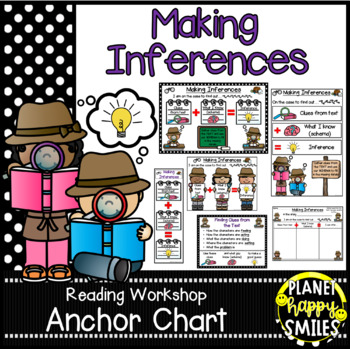 "Reading Workshop Anchor Chart - ""Making Inferences"" + Reading Response pages"