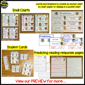 "Reading Workshop Anchor Chart - ""Making Predictions"" + Reading Response page"