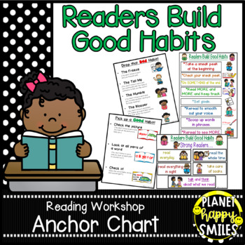 "Reading Workshop Anchor Chart - ""Readers Build Good Habits"""