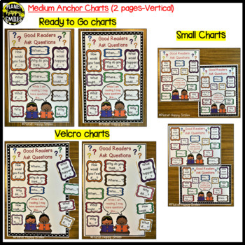 "Reading Workshop Anchor Chart & Student Bookmarks - ""Good Readers Ask Questions"""