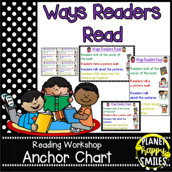 """Reading Workshop Anchor Chart - """"Ways Readers Read"""""""