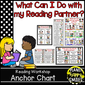 "Reading Workshop Anchor Chart - ""What Can I do with my Reading Partner?"""
