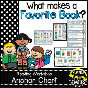"""Reading Workshop Anchor Chart - """"What Makes a Favorite Book?"""" + EDITABLE Notes"""