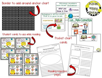 "Reading Workshop Anchor Charts - ""Mr. Schema"" & ""Mrs. Schema"" + Response Pages"