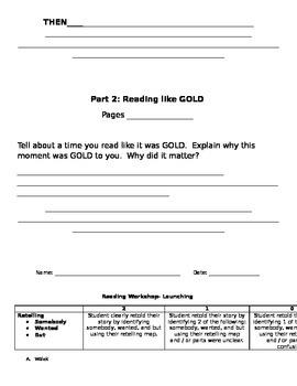 Reading Workshop Assessment