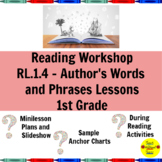 Reading Workshop Author's Words and Phrases Lessons for 1st Grade