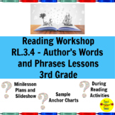 Reading Workshop Author's Words and Phrases Lessons for 3rd Grade