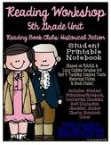 Reading Workshop - Book Club Unit (5th Grade No-Prep Student Notebook)