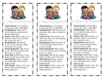 Reading Workshop Buddy Bookmark