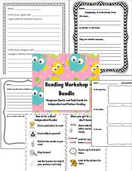 Reading Workshop Bundle:  Response Sheets and Task Cards