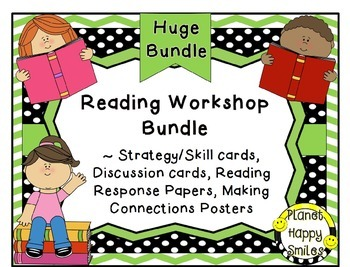 Reading Workshop Bundle~Strategy/Skill/Discussion Cards & More