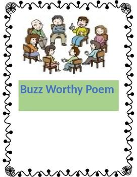 Reading Workshop Buzz Worthy Poem Activity