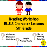 Reading Workshop Character Lessons for 5th Grade