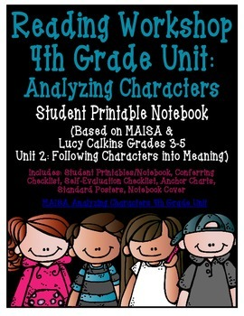 Reading Workshop - Characters (4th Grade No-Prep Student Notebook)