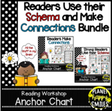 Reading Workshop Charts - Readers Use Their Schema & Make Connections Bundle
