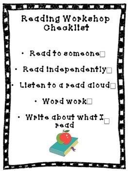 Reading Workshop Checklist