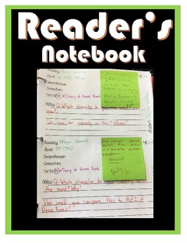 Reading Workshop, Conference Notebook Printable, Accountability during reading.