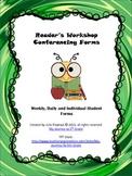 Reading Workshop Conferencing Forms