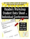 Reading Workshop Conferring Notes for Documentation and Differentiation