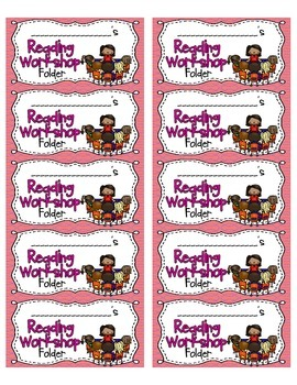 Reading Workshop Folder Labels