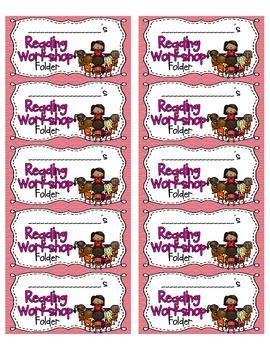 Reading Workshop Folder Labels