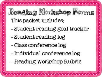 Reading Workshop Forms