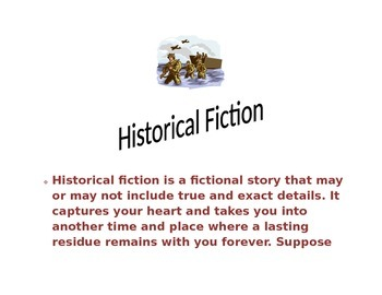 Reading Workshop Historical Fiction