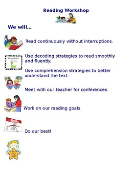 Reading Workshop Independent Work Expectations