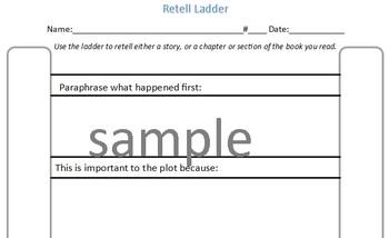Reading Workshop Individual Reading Task: Retell Ladder