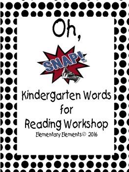 Reading Workshop Kindergarten Words