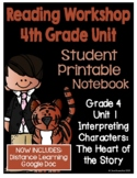 Lucy Reading Workshop: 4th Grade Notebook - Unit 1 - Distance Learning